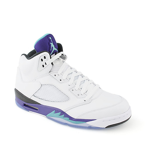 Jordan Air Jordan 5 Retro mens white athletic basketball sneaker