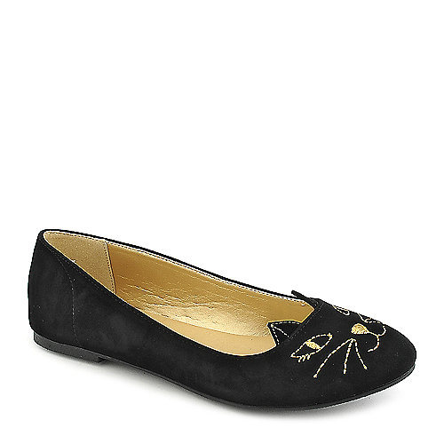 Shiekh Meow-S black slip on flats