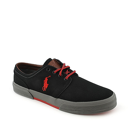 Mens Polo Ralph Lauren Faxon Low Red Lace Up Shoes Z83443