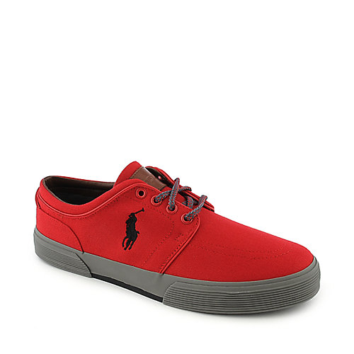 Polo Ralph Lauren Faxon Low red an black casual lace up sneaker