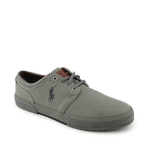 Polo Ralph Lauren Faxon Low grey casual lace up sneaker