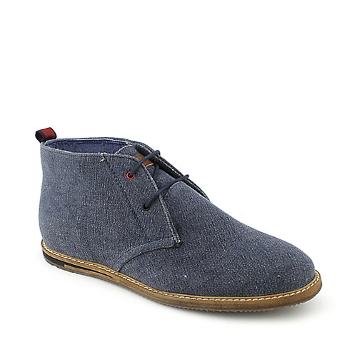 Ben Sherman Aberdeen Canvas mens navy casual boot