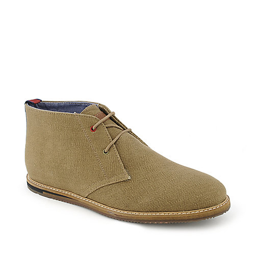 Ben Sherman Aberdeen Canvas mens khaki casual boot