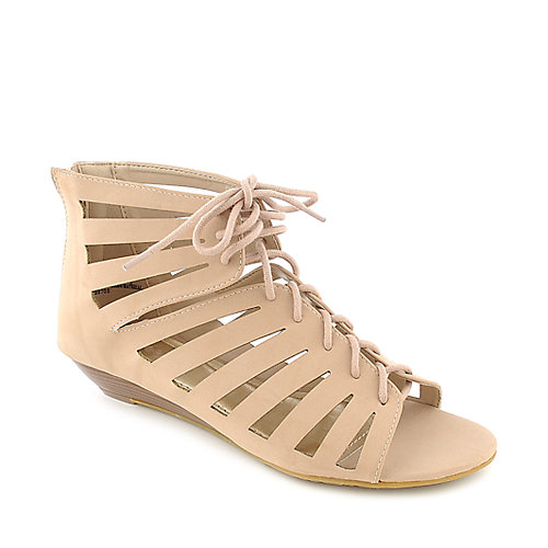 Bamboo Dalinda-08 womens wedge strappy gladiator sandal