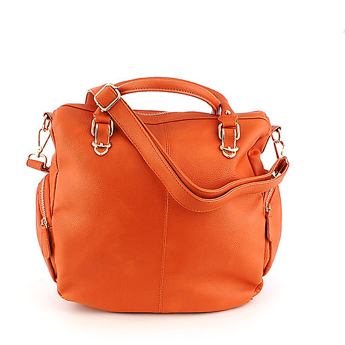 Nila Anthony orange Hobo Handbag