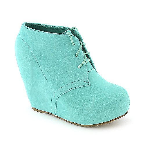Glaze Camilla-1 mint platform ankle wedged boot