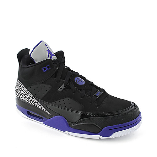 Jordan Mens Jordan Son Of Low black and purple athletic basketball sneaker