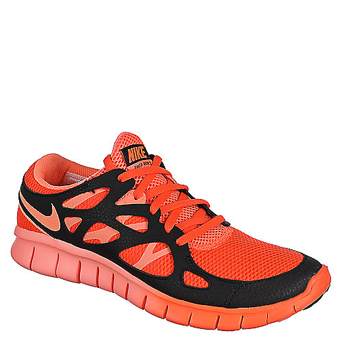 Nike Womens Nike Free Run 2 EXT neon orange and black athletic running sneaker