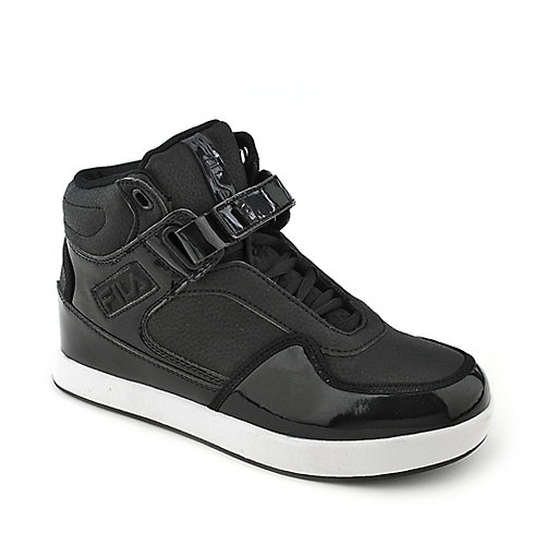 Fila Displace kids black athletic basketball sneaker