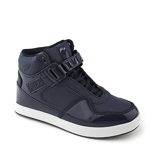 Fila Displace kids blue athletic basketball sneaker