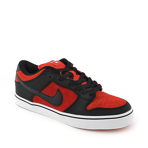 Nike Mens Nike Dunk Low LR red an black athletic skate sneaker