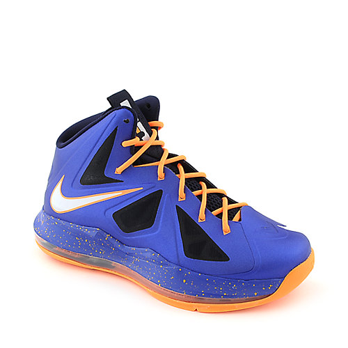 Nike Kids Lebron X (GS) kids blue athletic basketball sneaker