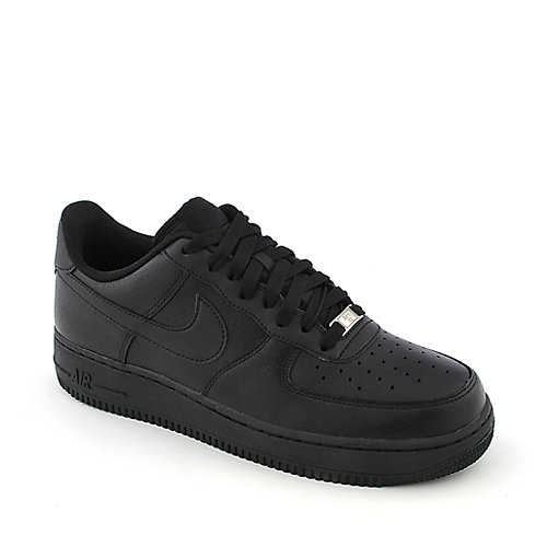 Nike Air Force 1 black athletic basketball sneaker