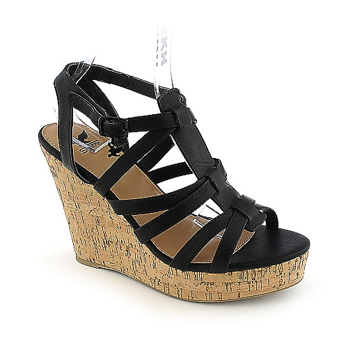 Shiekh Janice-S black casual platform wedge shoe