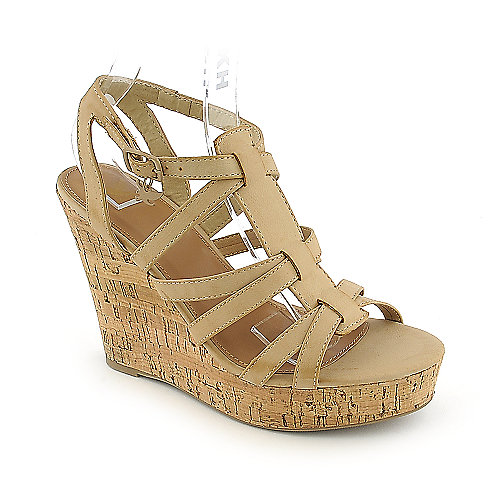 Shiekh Janice-S natural slingback platform wedge