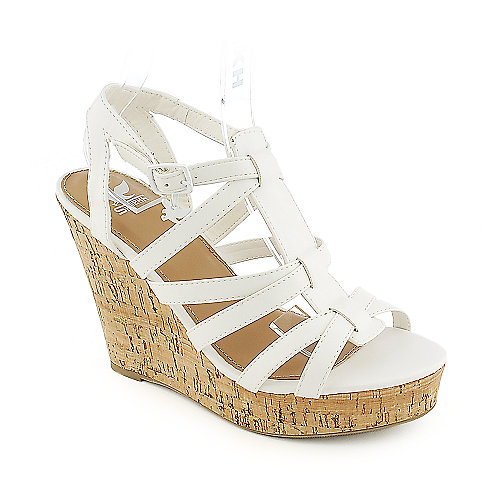 Shiekh Janice-S white casual platform wedge shoe