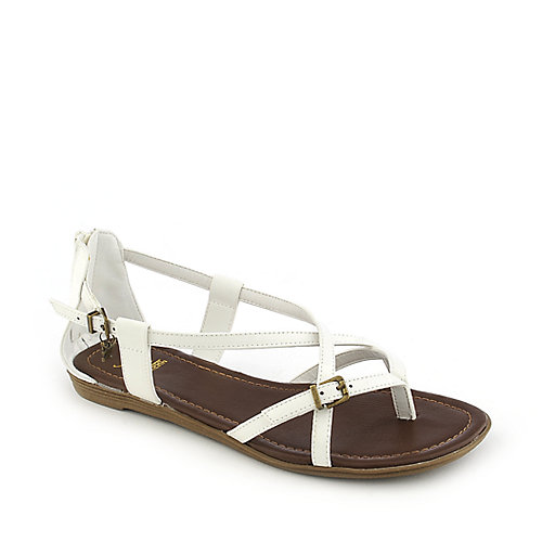 Shiekh Hazie-Ah white flat strappy thong sandals