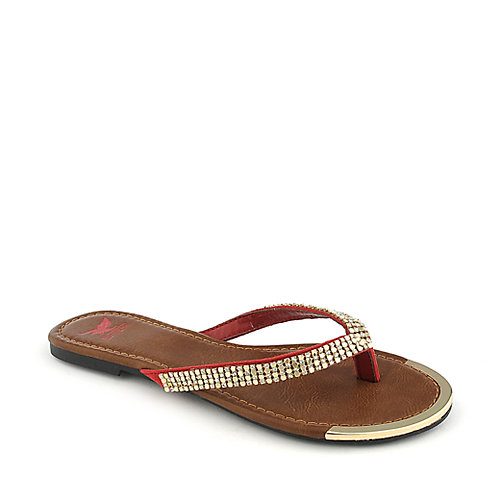 Shiekh Rely-S red flat jeweled thong sandal