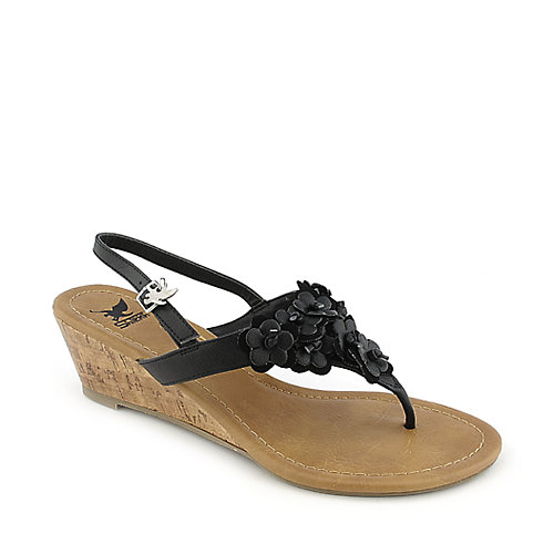 Shiekh Zoo-H black casual slingback wedge