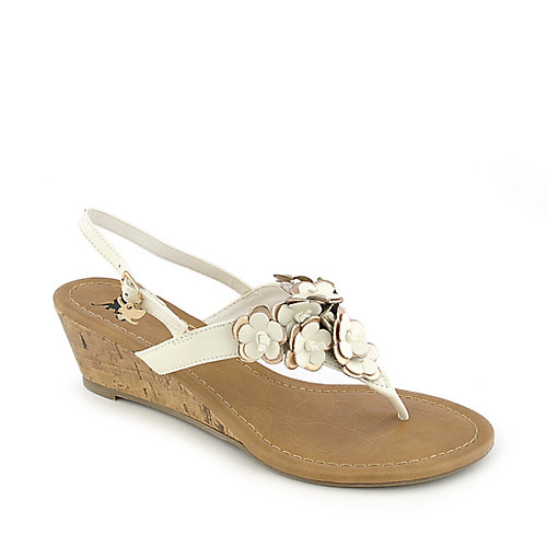 Shiekh Zoo-H white casual slingback wedge