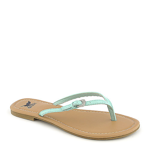 Shiekh Squash-S womens green thong sandal