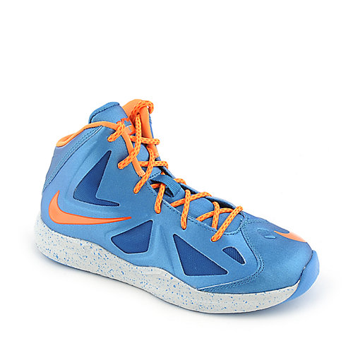 Nike Lebron X youth blue athletic basketball sneaker