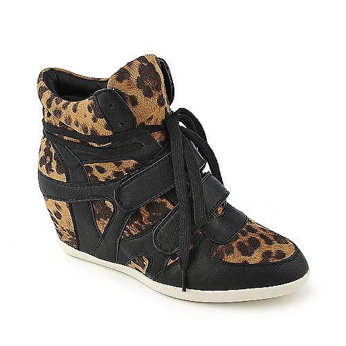 Glaze Alana-1 camouflage casual lace-up sneaker wedge