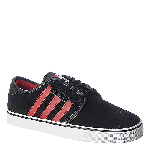Adidas Seeley black and red athletic skate lifestyle sneaker