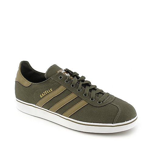 Adidas Gazelle II mens olive athletic lifestyle sneaker