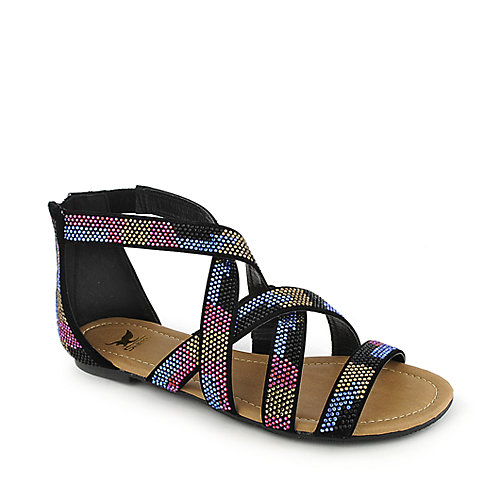 Shiekh 094 womens flat jeweled gladiator strappy sandal