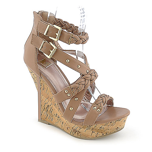 Shiekh #098 nude platform wedge