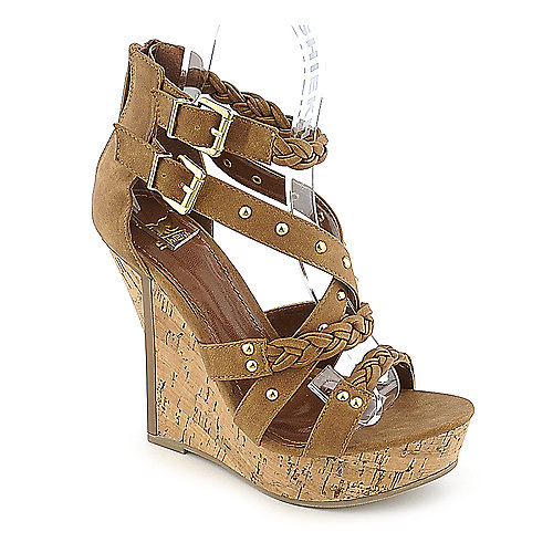 Shiekh #098 tan platform wedge