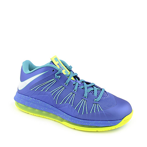 Nike Air Max Lebron X Low mens blue athletic basketball sneaker