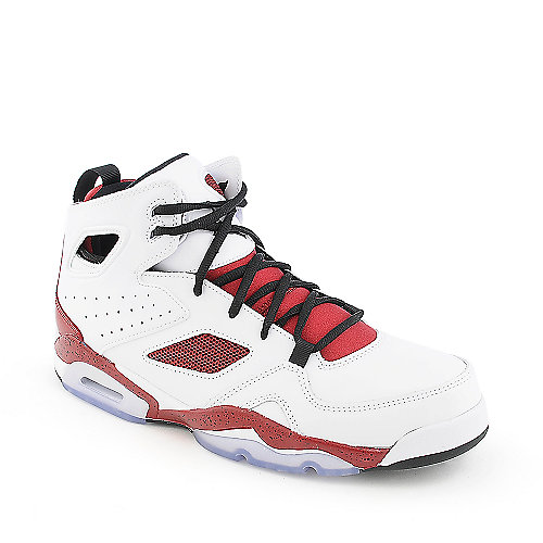 Jordan FLTCLB '91 mens white, red and black athletic basketball sneaker