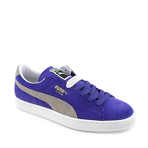 Puma Mens Suede Classic blue suede lace up casual sneaker