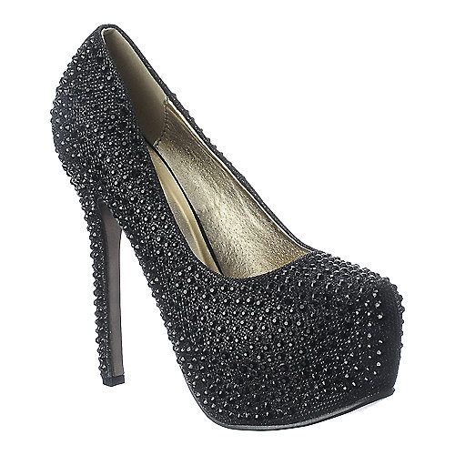 Shiekh Pump 0-18 black platform glitter high heel pump