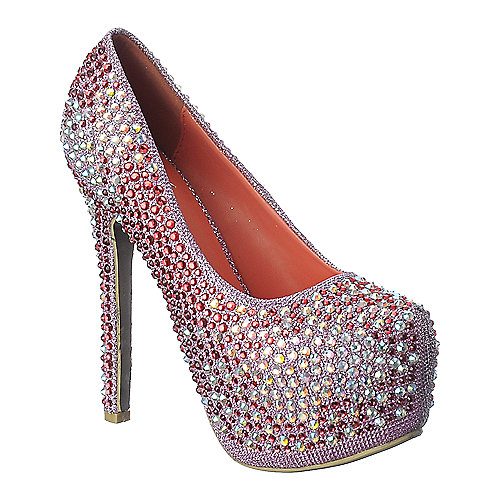Shiekh Pump 0-18 fuschia platform glitter high heel pump