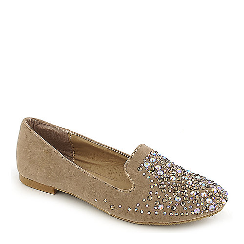 Shiekh Leila-30 beige flat slip on casual shoe