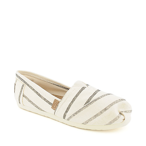 Madden Girl Gloriee womens black and beige slip on flats
