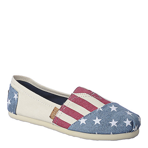 Madden Girl Gloriee red white and blue flat slip on
