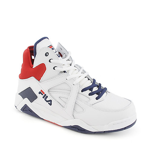 Fila The Cage mens white athletic basketball sneaker
