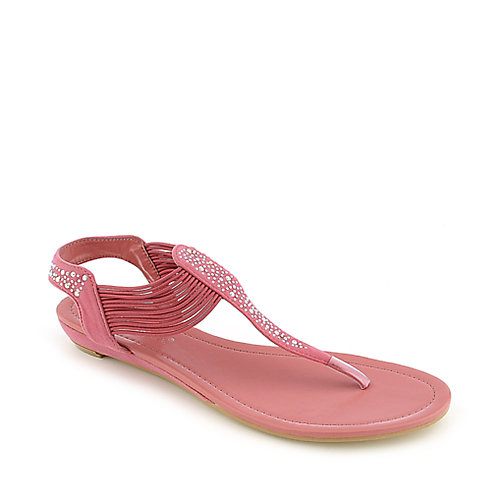 Nature Breeze Ariel-12 coral flat thong sandal