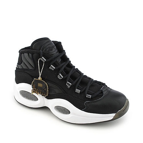 Reebok Question Mid black and white athletic basketball sneaker