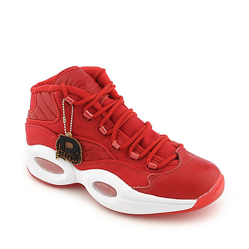 Reebok Mens Question Mid Red Athletic Basketball Shoes