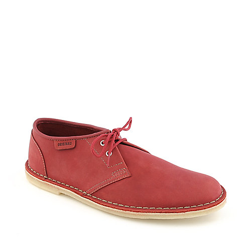 Clarks Jink mens red suede ankle boot