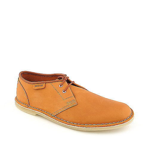 Clarks Jink mens orange casual suede boot