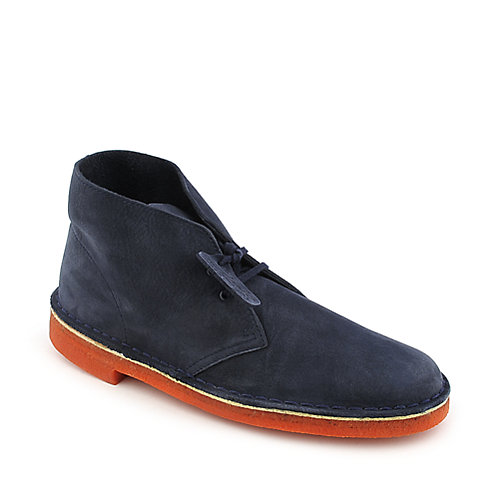 Clarks Desert Boot mens navy casual boot