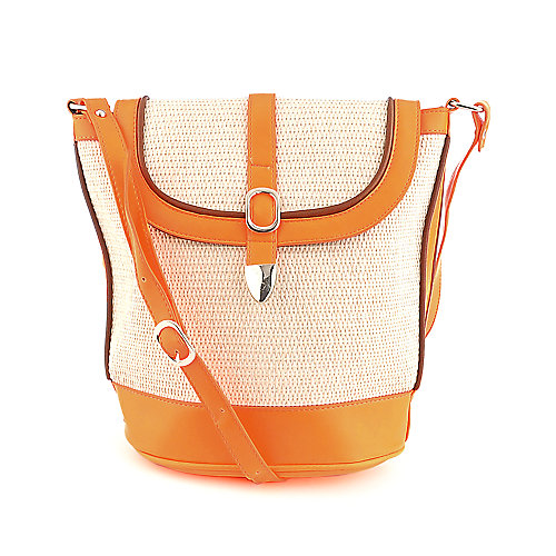 Elleven K. orange Cross body satchel bag