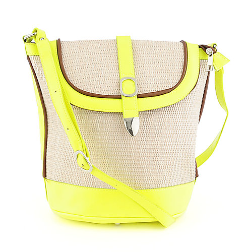 Elleven K. Neon yellow satchel bag