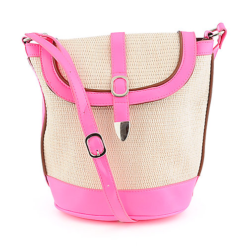 Elleven K. neon pink cross body bag